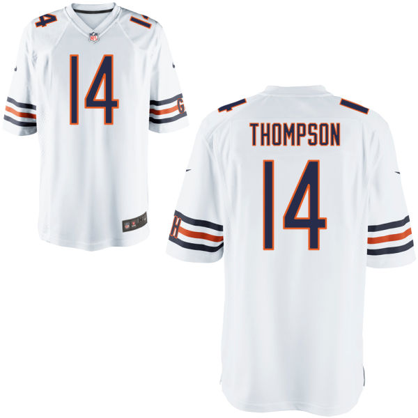 Deonte Thompson Nike Chicago Bears Game White Jersey