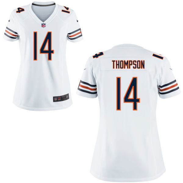 Deonte Thompson Women's Nike Chicago Bears Game White Jersey