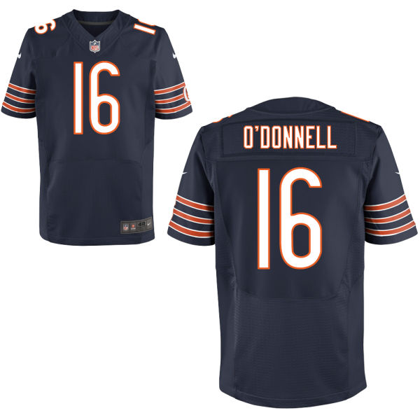 Pat O'donnell Nike Chicago Bears Elite Navy Blue Jersey