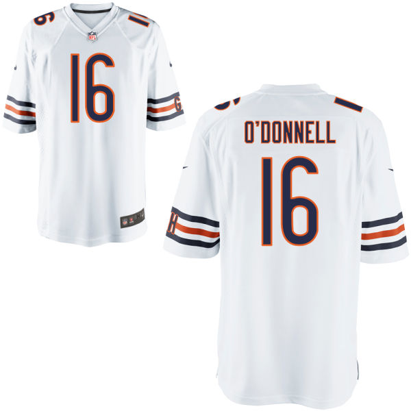 Pat O'donnell Nike Chicago Bears Game White Jersey
