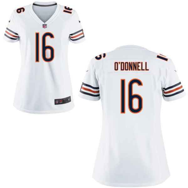 Pat O'donnell Women's Nike Chicago Bears Elite White Jersey
