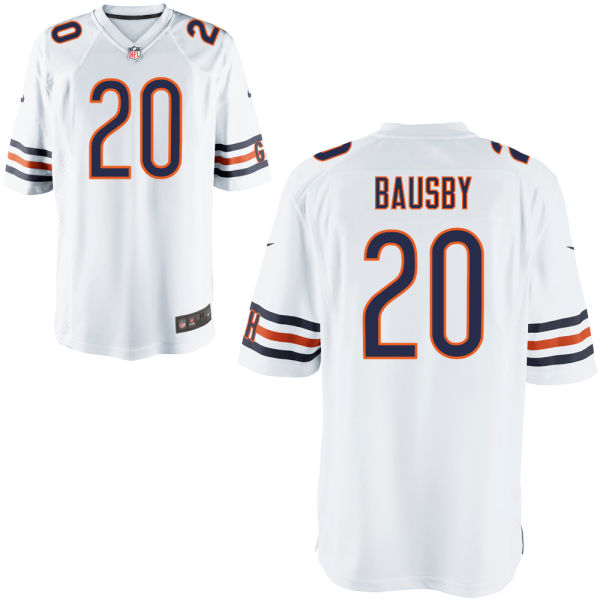 De'vante Bausby Nike Chicago Bears Game White Jersey