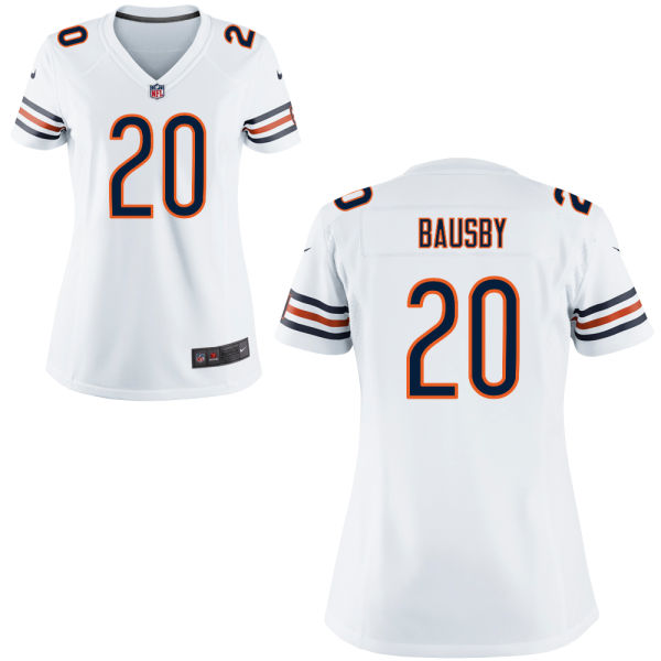 De'vante Bausby Women's Nike Chicago Bears Elite White Jersey