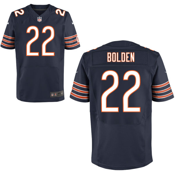 Omar Bolden Nike Chicago Bears Elite Navy Blue Jersey