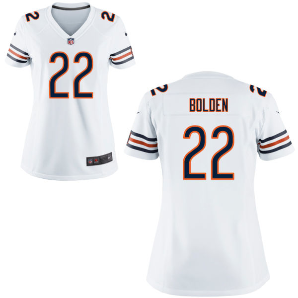 Omar Bolden Women's Nike Chicago Bears Game White Jersey