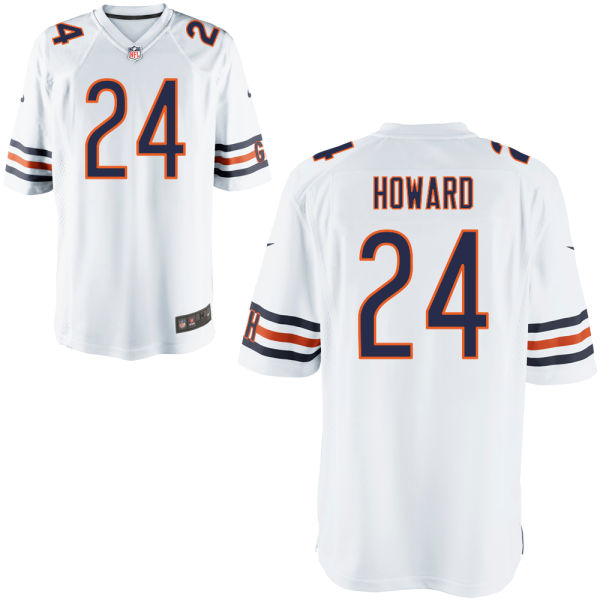 Jordan Howard Nike Chicago Bears Game White Jersey