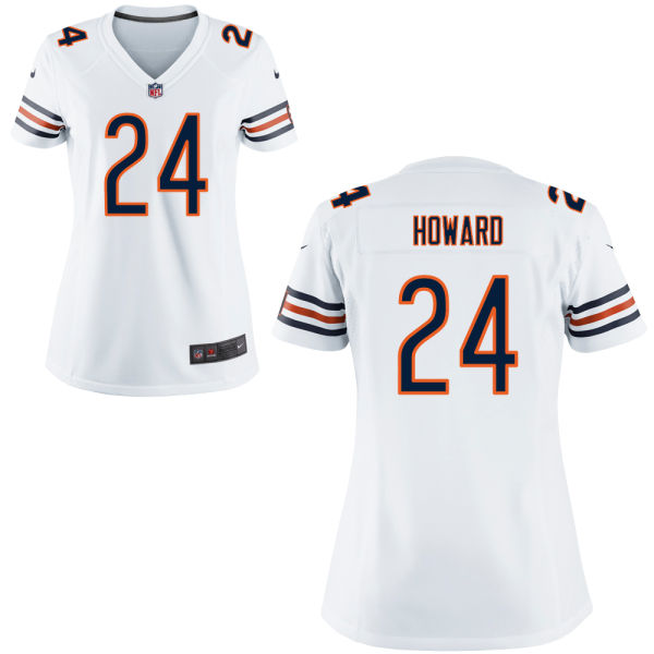 Jordan Howard Women's Nike Chicago Bears Game White Jersey