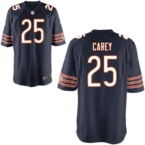 Ka'deem Carey Nike Chicago Bears Game Navy Jersey