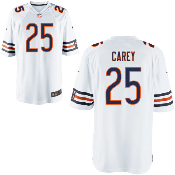 Ka'deem Carey Nike Chicago Bears Game White Jersey