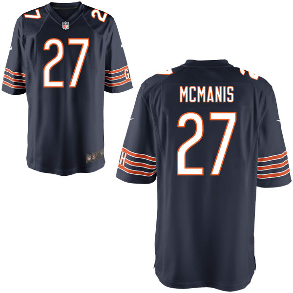 Sherrick Mcmanis Youth Nike Chicago Bears Game Navy Jersey