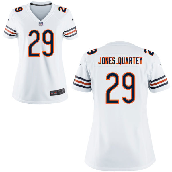 Harold Jones-quartey Women's Nike Chicago Bears Elite White Jersey
