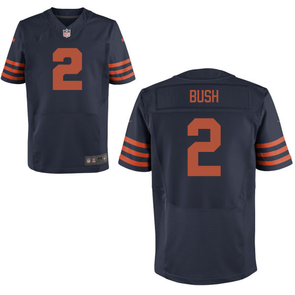 Deon Bush Nike Chicago Bears Elite Navy Blue Alternate Jersey