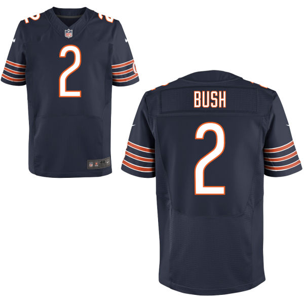Deon Bush Nike Chicago Bears Elite Navy Blue Jersey