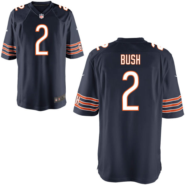 Deon Bush Nike Chicago Bears Game Navy Jersey
