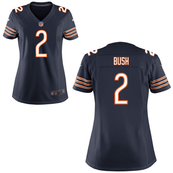 Deon Bush Women's Nike Chicago Bears Game Navy Blue Jersey