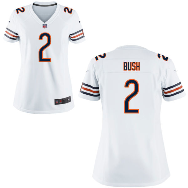 Deon Bush Women's Nike Chicago Bears Game White Jersey