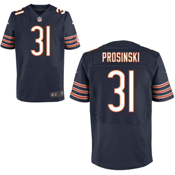Chris Prosinski Nike Chicago Bears Elite Navy Blue Jersey