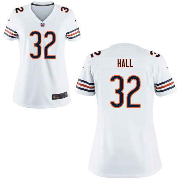 Deiondre' Hall Women's Nike Chicago Bears Elite White Jersey