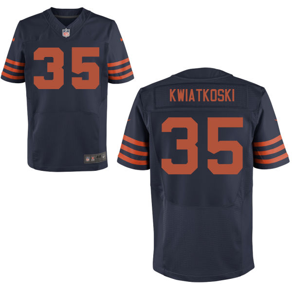 Nick Kwiatkoski Nike Chicago Bears Elite Navy Blue Alternate Jersey