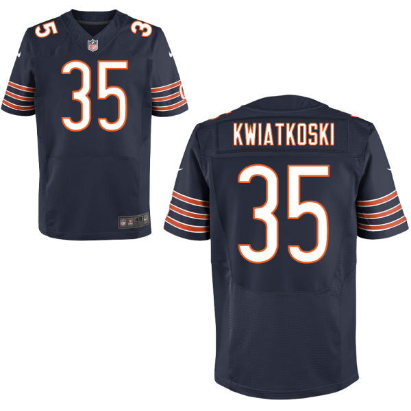 Nick Kwiatkoski Nike Chicago Bears Elite Navy Blue Jersey