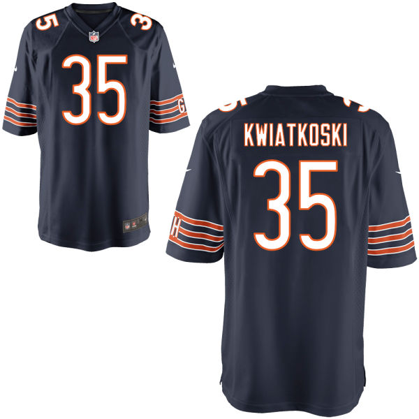 Nick Kwiatkoski Nike Chicago Bears Game Navy Jersey