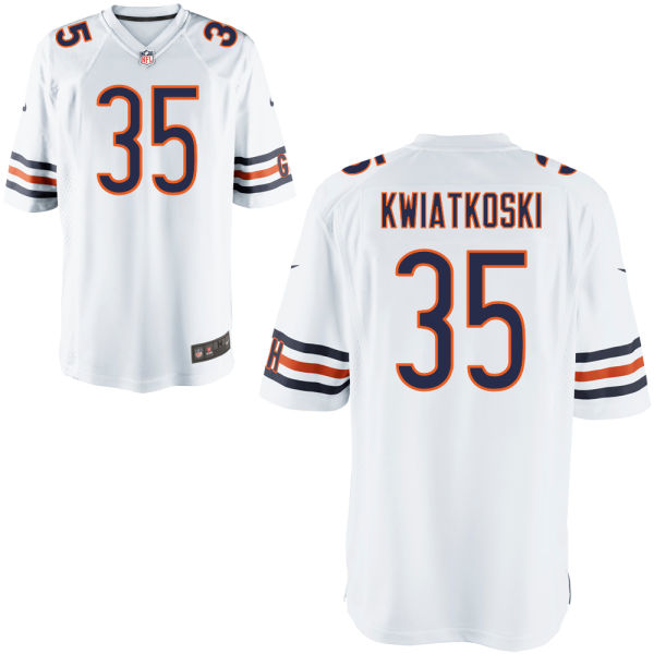 Nick Kwiatkoski Nike Chicago Bears Limited White Jersey
