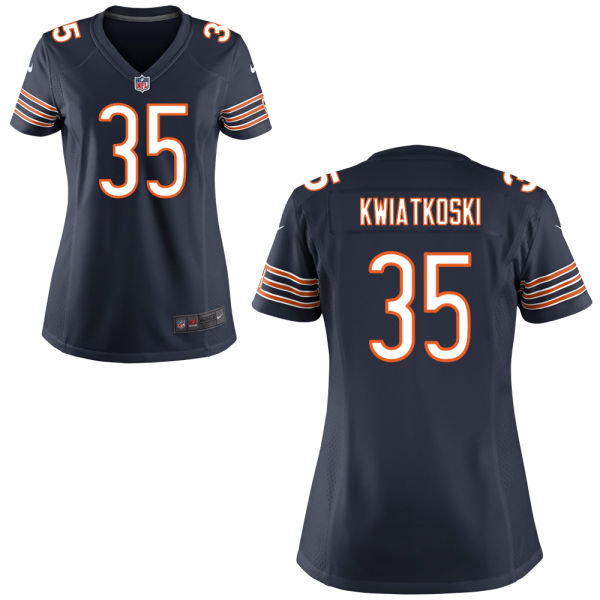 Nick Kwiatkoski Women's Nike Chicago Bears Game Navy Blue Jersey