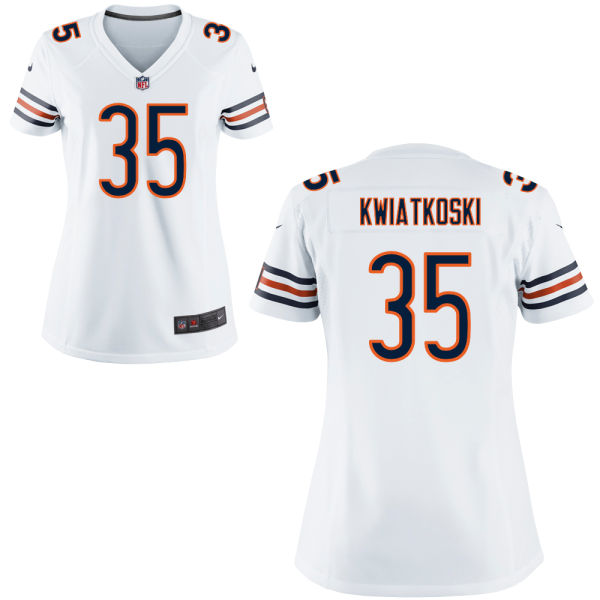 Nick Kwiatkoski Women's Nike Chicago Bears Game White Jersey