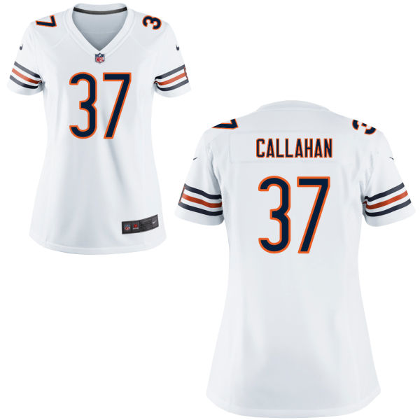 Bryce Callahan Women's Nike Chicago Bears Game White Jersey