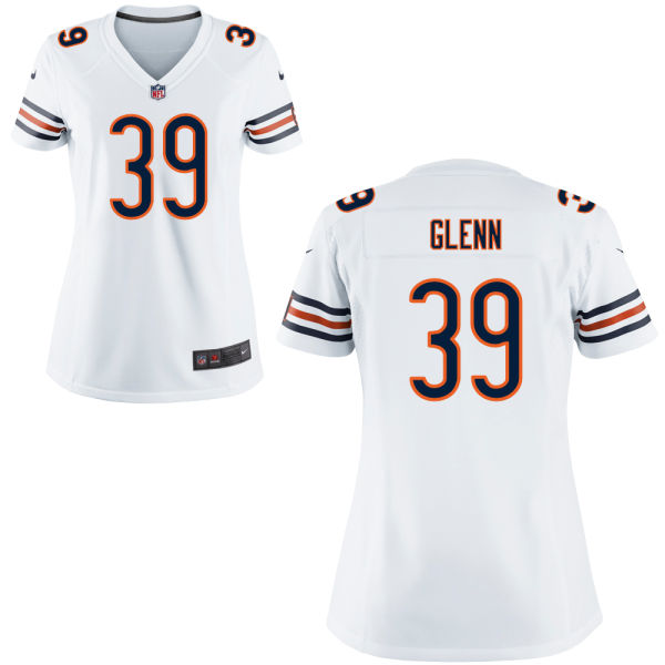 Jacoby Glenn Women's Nike Chicago Bears Elite White Jersey