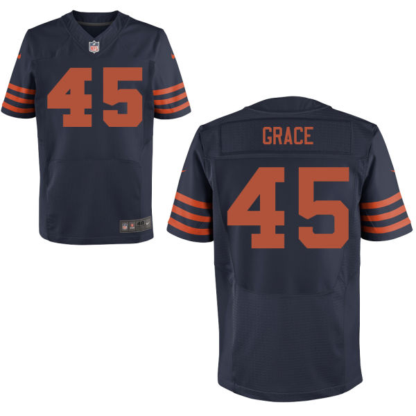 Jarrett Grace Nike Chicago Bears Elite Navy Blue Alternate Jersey