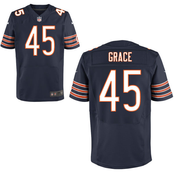 Jarrett Grace Nike Chicago Bears Elite Navy Blue Jersey