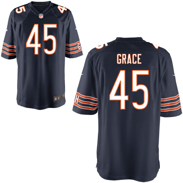 Jarrett Grace Nike Chicago Bears Game Navy Jersey