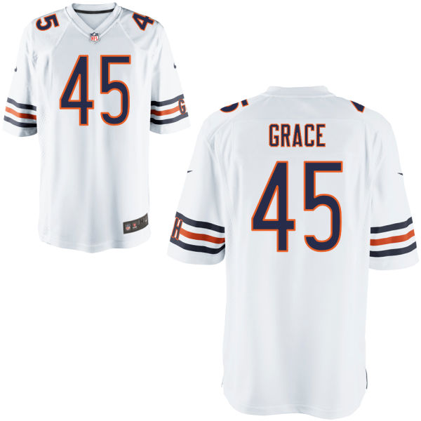 Jarrett Grace Nike Chicago Bears Game White Jersey