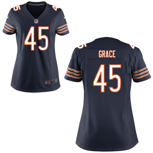 Jarrett Grace Women's Nike Chicago Bears Elite Navy Blue Jersey