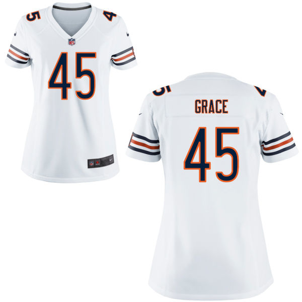 Jarrett Grace Women's Nike Chicago Bears Elite White Jersey