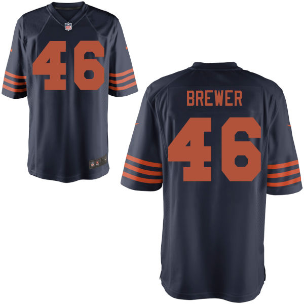 Aaron Brewer Nike Chicago Bears Game Alternate Jersey