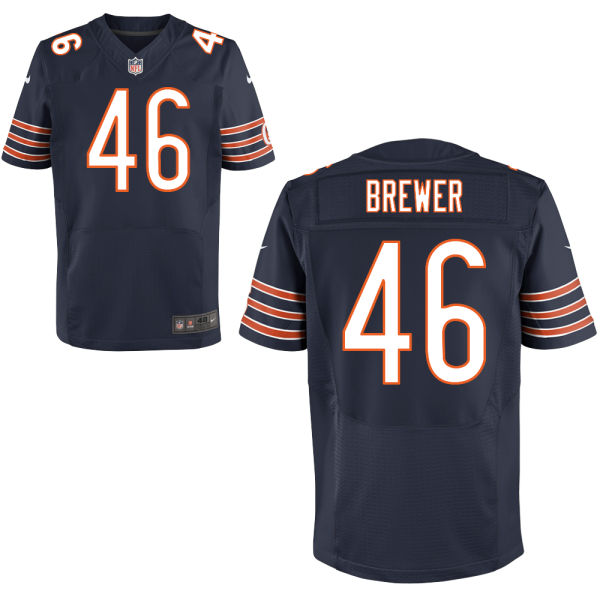 Aaron Brewer Youth Nike Chicago Bears Elite Navy Blue Jersey