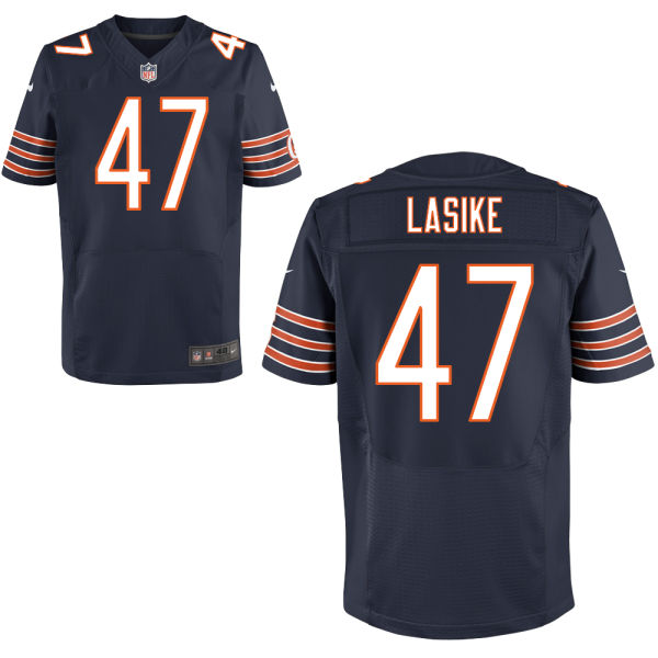 Paul Lasike Nike Chicago Bears Elite Navy Blue Jersey