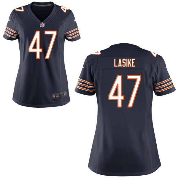 Paul Lasike Women's Nike Chicago Bears Game Navy Blue Jersey