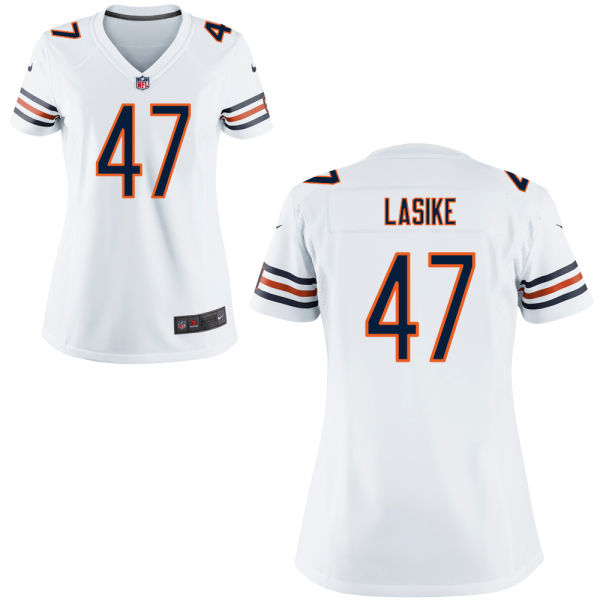 Paul Lasike Women's Nike Chicago Bears Elite White Jersey
