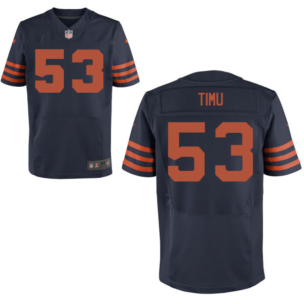 John Timu Nike Chicago Bears Elite Navy Blue Alternate Jersey
