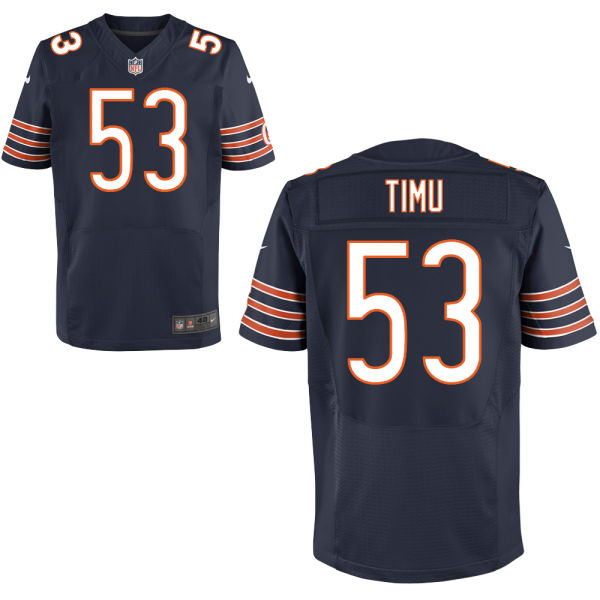 John Timu Nike Chicago Bears Elite Navy Blue Jersey