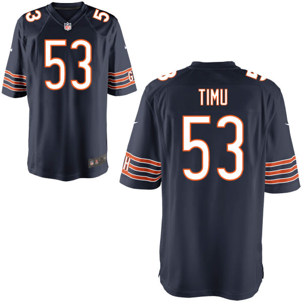 John Timu Nike Chicago Bears Game Navy Jersey