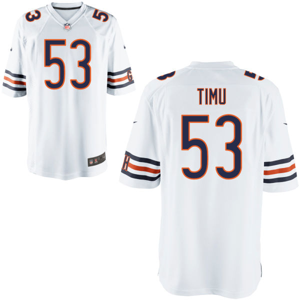 John Timu Nike Chicago Bears Game White Jersey