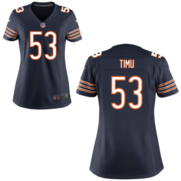 John Timu Women's Nike Chicago Bears Elite Navy Blue Jersey