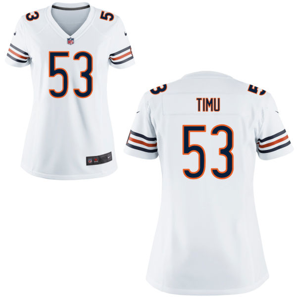 John Timu Women's Nike Chicago Bears Game White Jersey