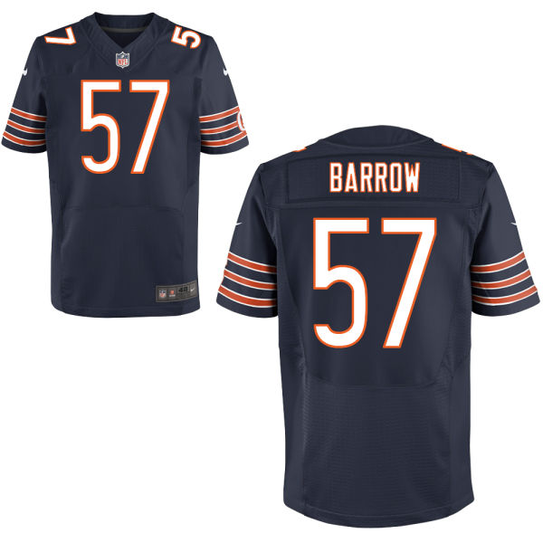 Lamin Barrow Nike Chicago Bears Elite Navy Blue Jersey