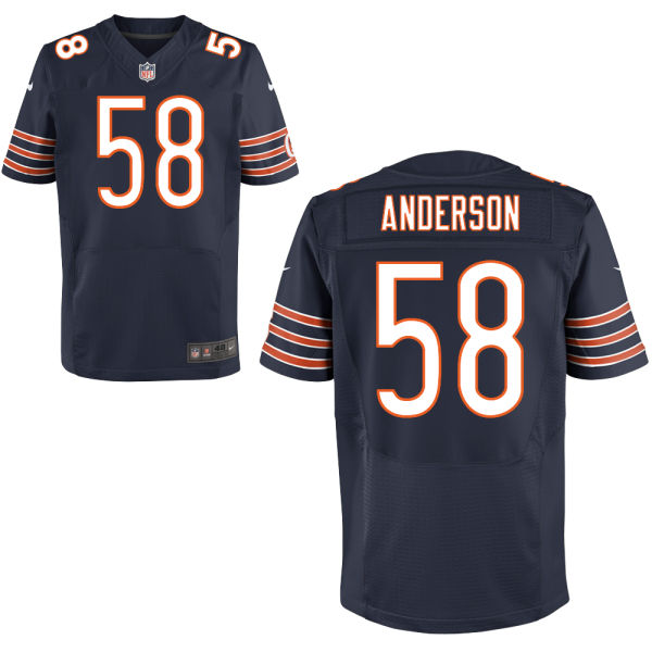 Jonathan Anderson Nike Chicago Bears Elite Navy Blue Jersey