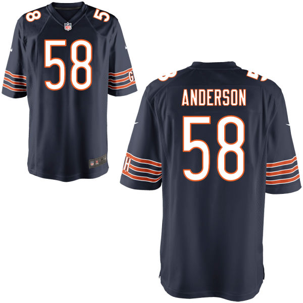 Jonathan Anderson Nike Chicago Bears Game Navy Jersey